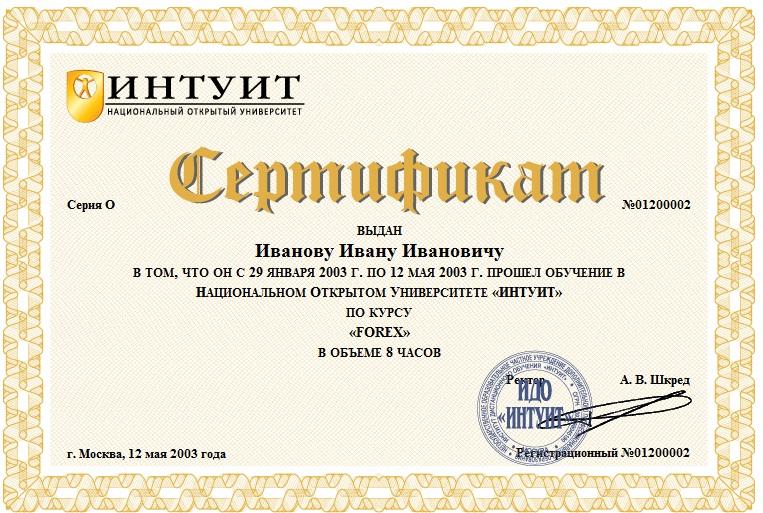 Форекс сертификат минусы форекс lang ru